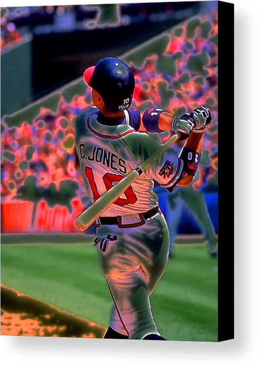 Baseball Canvas Print featuring the photograph Chipper Jones by Rod Kaye