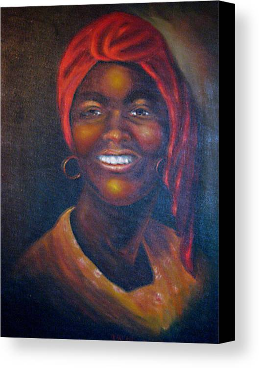 Black Women Canvas Print featuring the painting Cicely Tyson by Irene Schilling
