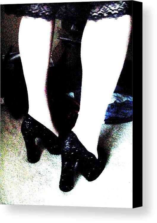 Heels Canvas Print featuring the photograph Closet by Meghann Brunney