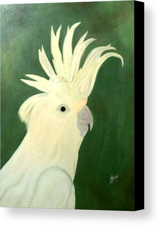 Bird Canvas Print featuring the painting Cockatoo by Guillermo Mason