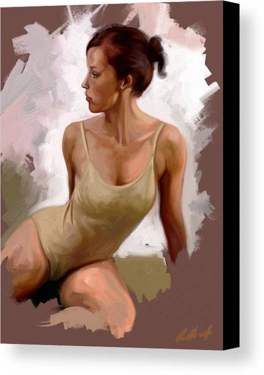 Figurative Canvas Print featuring the digital art Colour Study 1 by Stuart Gilbert