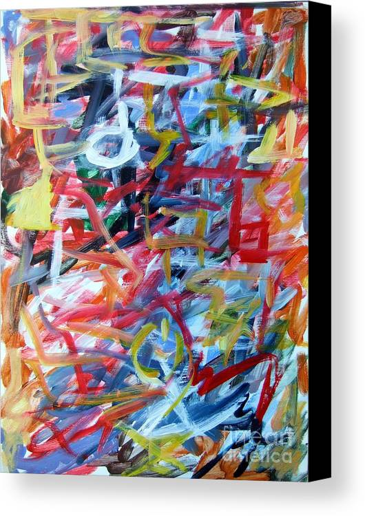 Abstract Canvas Print featuring the painting Composition No. 11 by Michael Henderson