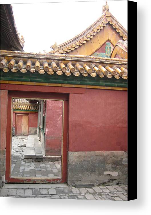 China Canvas Print featuring the photograph Corridors by Angela Siener
