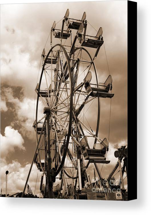 Ferris Wheel Canvas Print featuring the photograph County Fair by Kathy Jennings