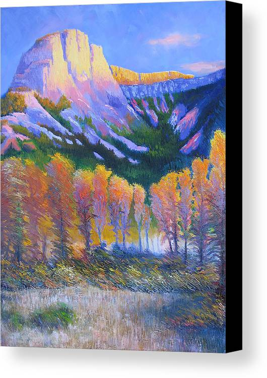 Oil Canvas Print featuring the painting Creator Mountain by Gregg Caudell
