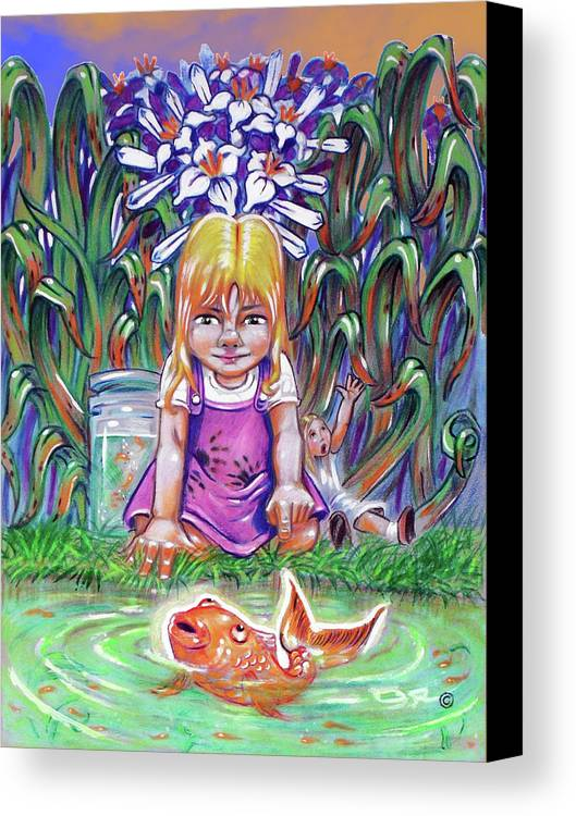Metaphors Canvas Print featuring the painting Curiosity by OR Alves Jnr