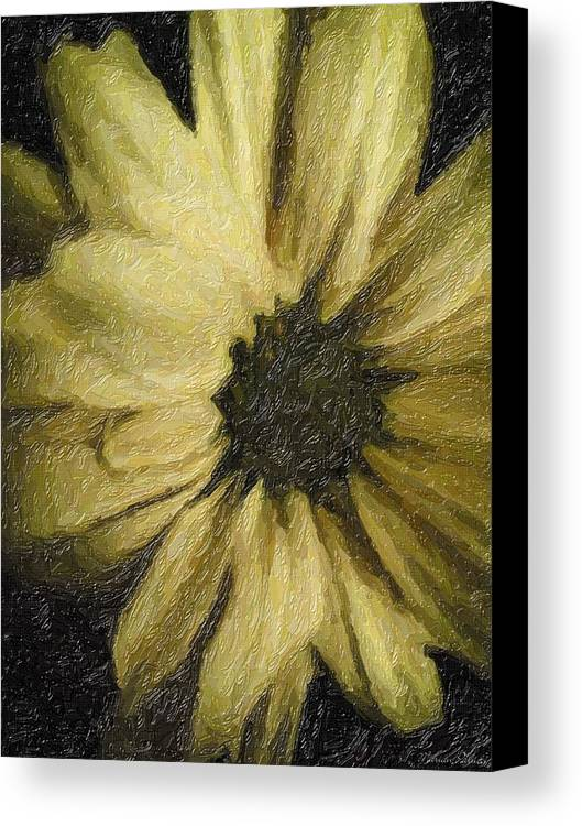 Daisy Canvas Print featuring the painting Daisy Luscious by Marian Palucci-Lonzetta