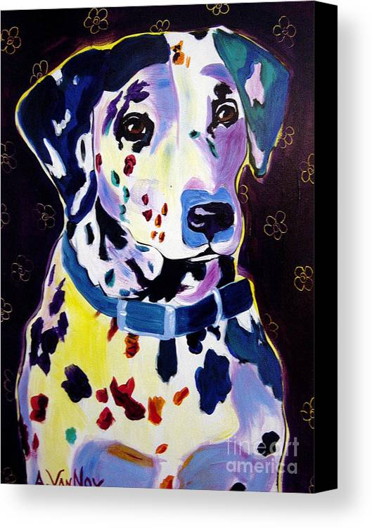 Dog Canvas Print featuring the painting Dalmatian - Dottie by Alicia VanNoy Call
