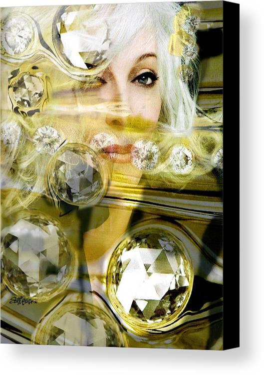 Women Canvas Print featuring the digital art Darling Diamonds by Seth Weaver