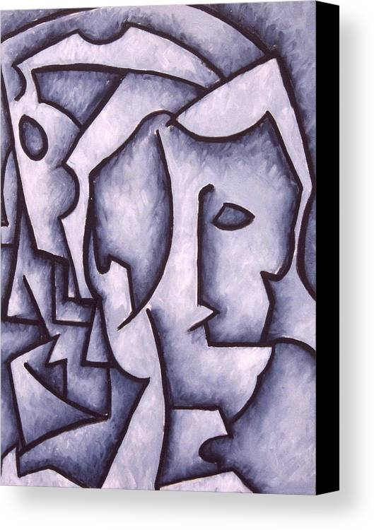 Abstract Canvas Print featuring the painting David by Thomas Valentine
