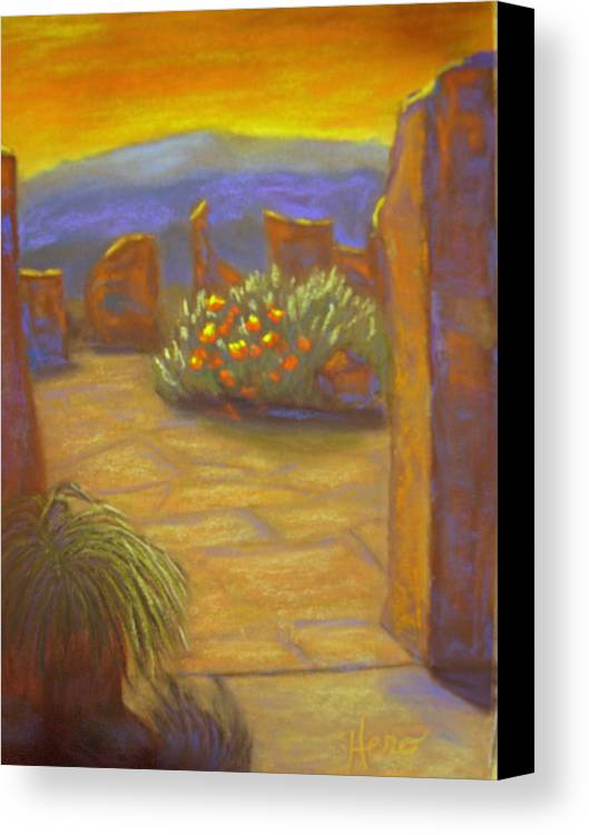 Desert Canvas Print featuring the pastel Desert Rose by Marcia Hero