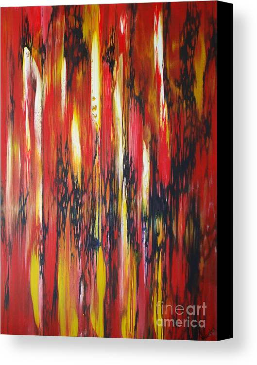 Abstract Canvas Print featuring the painting Desire by M J Venrick