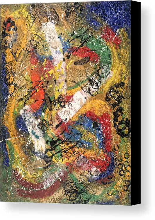 Abstract Canvas Print featuring the painting Diplome D by Dominique Boutaud