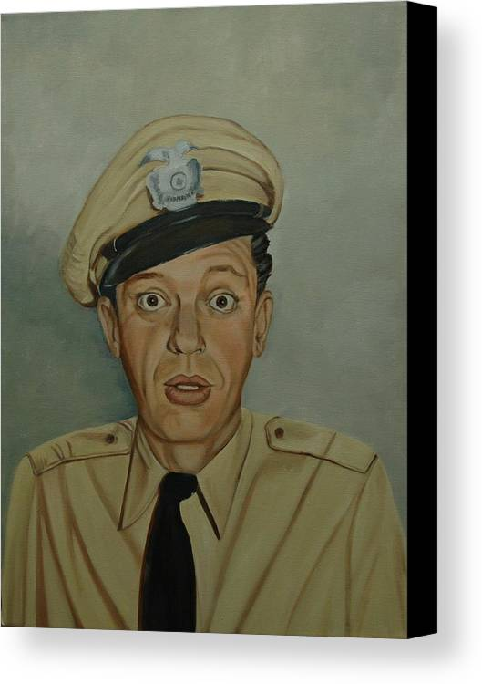 Barney Canvas Print featuring the painting Don Knotts As Barney Fife by Tresa Crain