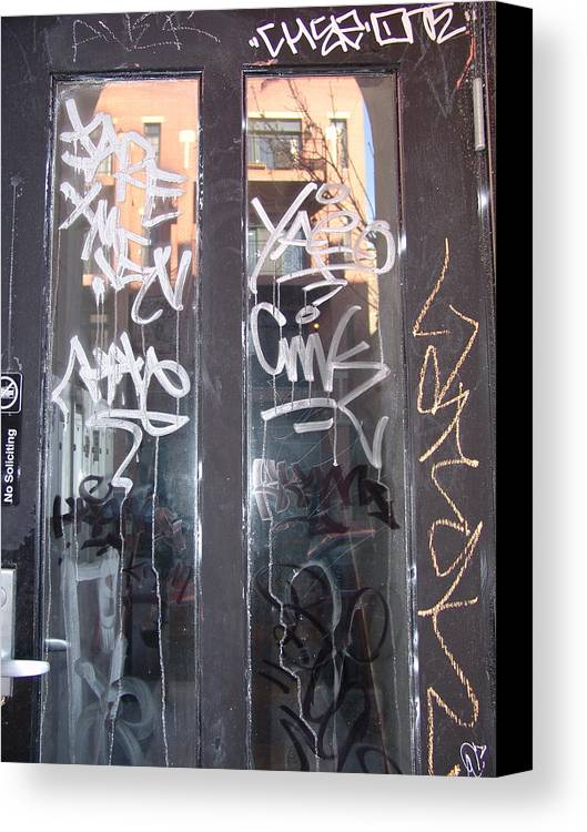 Door Canvas Print featuring the photograph Door Chicago by Kevin Callahan