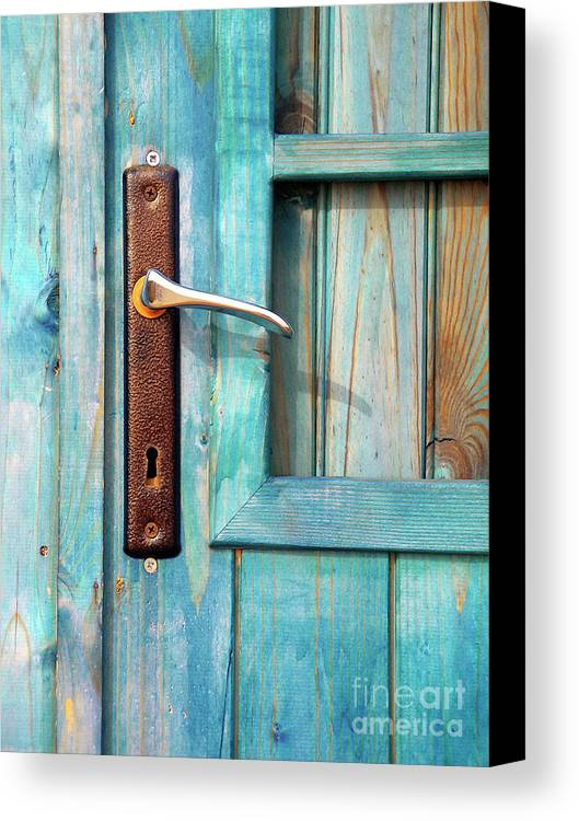 Abandonment Canvas Print featuring the photograph Door Handle by Carlos Caetano