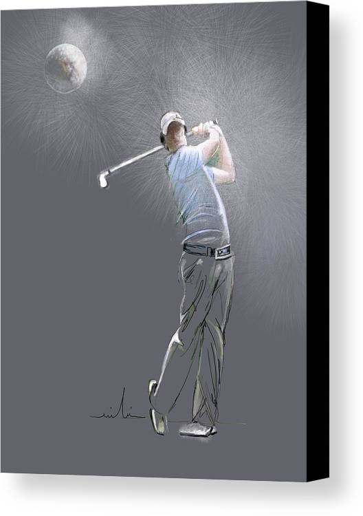 Golf Canvas Print featuring the painting Eclipse by Miki De Goodaboom