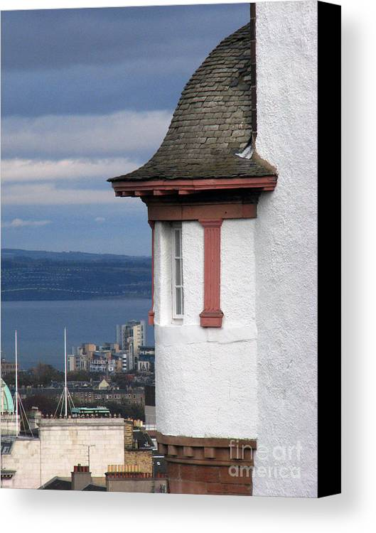 Scotland Canvas Print featuring the digital art Edinburgh Scotland by Amanda Barcon