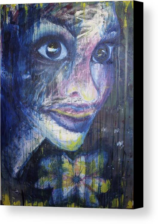 Face Canvas Print featuring the painting Elle by Stephanie Cook