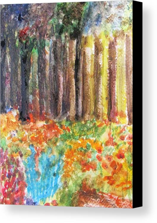 Woods Canvas Print featuring the painting Enchanted Woods by Trilby Cole