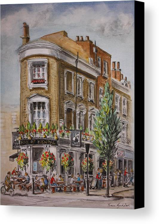 London Canvas Print featuring the painting England London The Duke Of Kendal by Yvonne Ayoub
