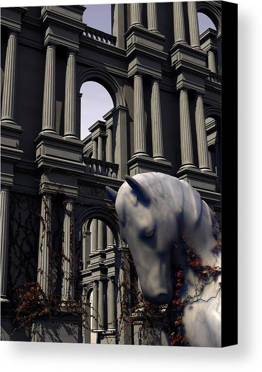 Horse Canvas Print featuring the digital art Eqvvs Iv by Mariusz Loszakiewicz