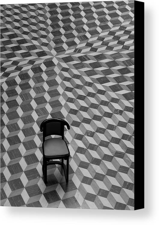 Chair Canvas Print featuring the photograph Escher-like Chair by Jim DeLillo