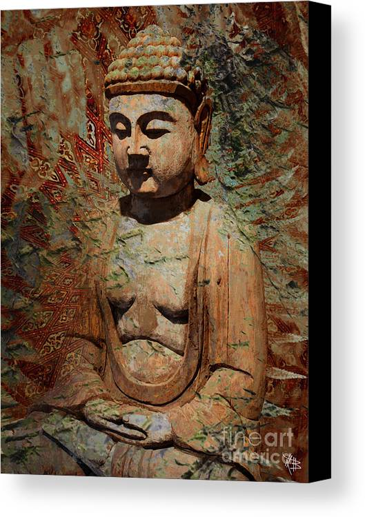 Buddha Canvas Print featuring the painting Evening Meditation by Christopher Beikmann