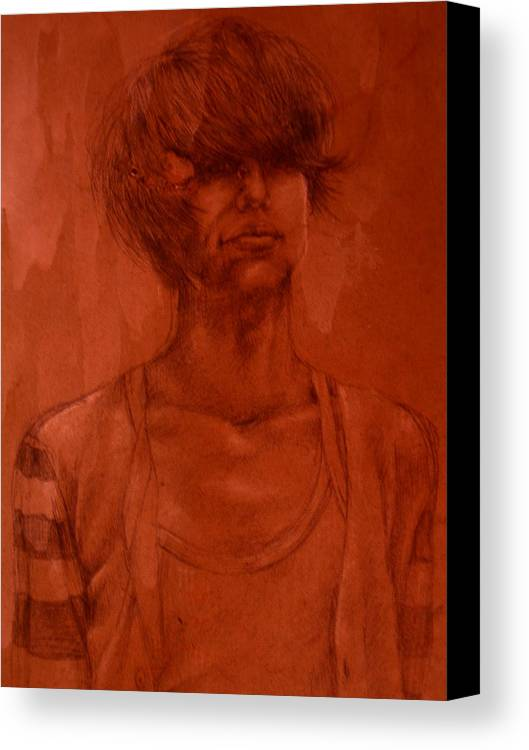 Face Canvas Print featuring the drawing Fashion Designer by J Oriel