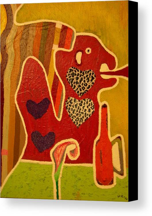 Abstract Canvas Print featuring the painting Fashion Monster by Heinrich Haasbroek