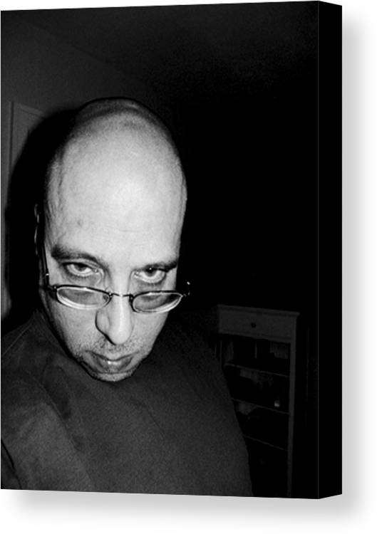 Canvas Print featuring the photograph Fat Bald And Unhappy by John Toxey