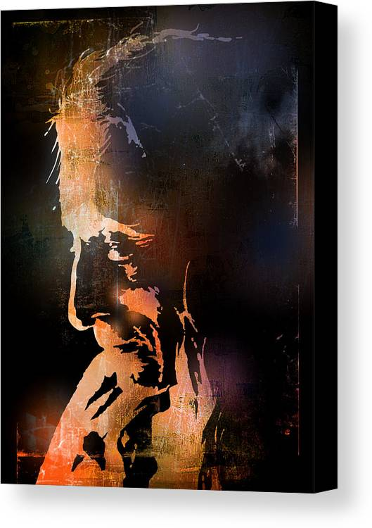 Native American Canvas Print featuring the painting Firelight by Paul Sachtleben