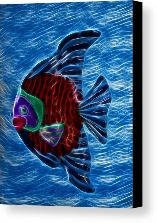 Fish Canvas Print featuring the photograph Fish In Water by Shane Bechler