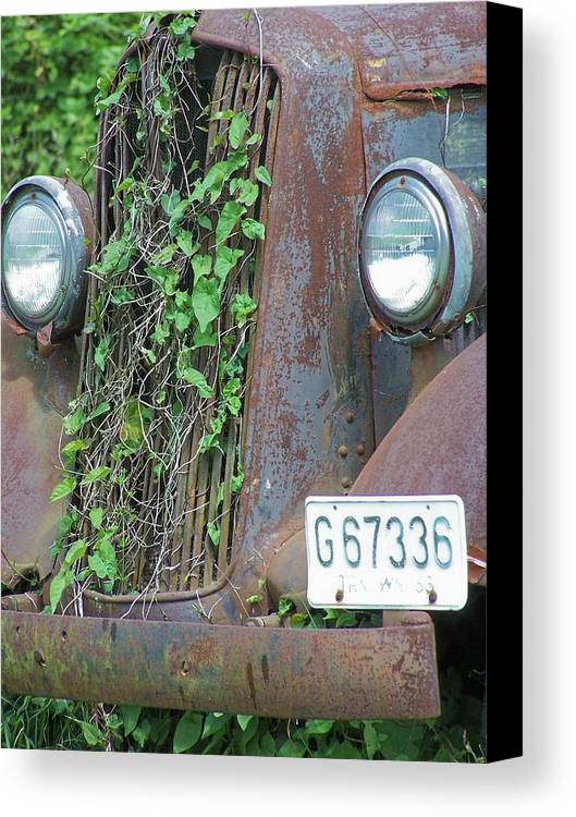 Ford Canvas Print featuring the photograph Ford Grill by Gene Ritchhart
