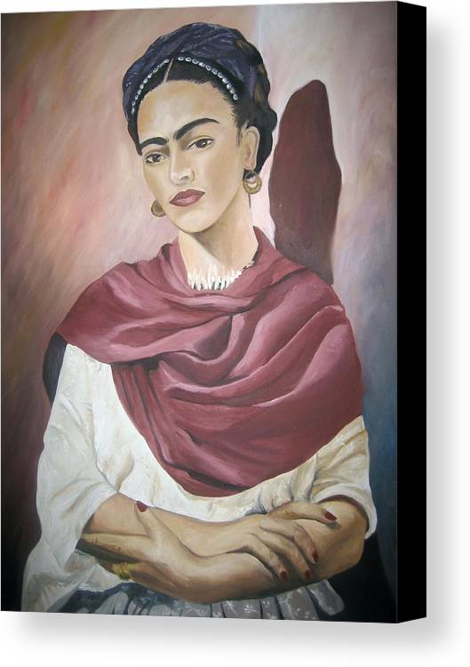 Frida Canvas Print featuring the painting Frida by Jessica De la Torre
