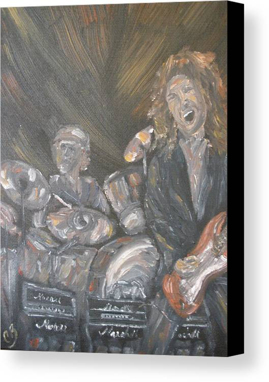 Rock Band Canvas Print featuring the painting Frusciante by Carrie Mayotte