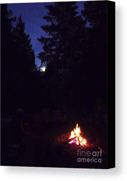 Night Canvas Print featuring the photograph Full Moon Jamming by JoAnn SkyWatcher
