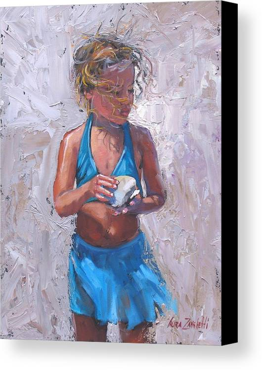 Young Girl Canvas Print featuring the painting Gabby by Laura Lee Zanghetti