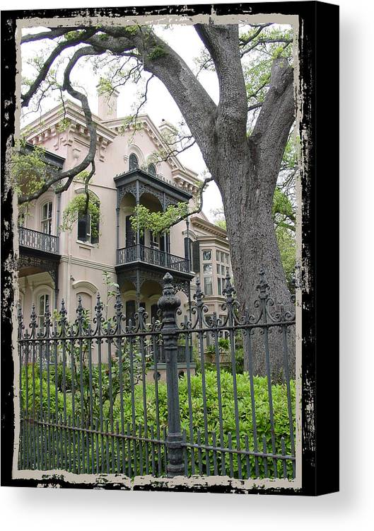 New Orleans Canvas Print featuring the photograph Garden District House by Linda Kish