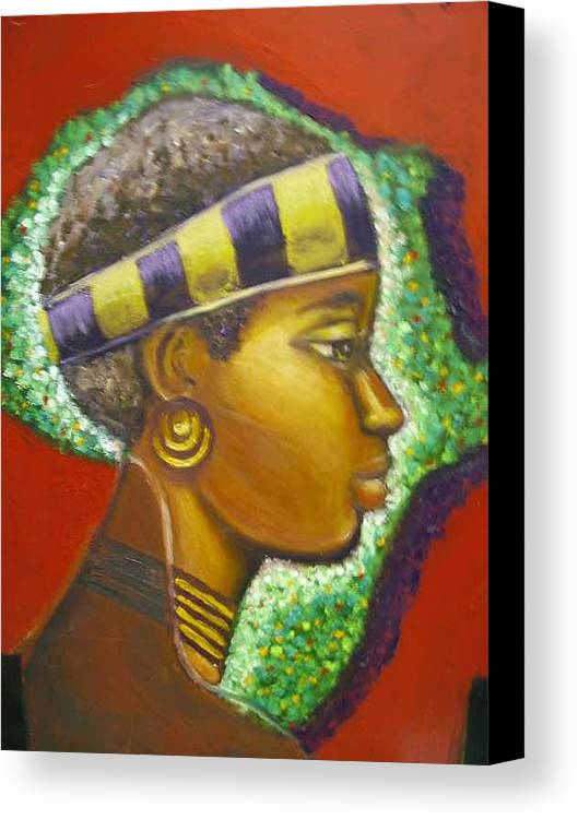 Gem Of Africa Canvas Print featuring the painting Gem Of Africa by Jan Gilmore