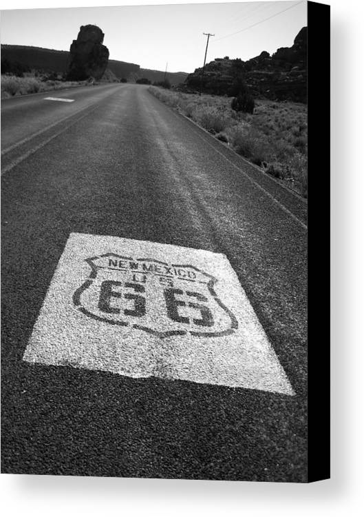 New Mexico Canvas Print featuring the photograph Get Your Kicks In New Mexico by Eric Foltz