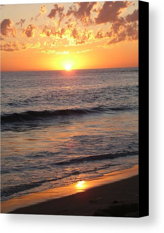 Sunset Canvas Print featuring the photograph God's Artwork by John Loyd Rushing
