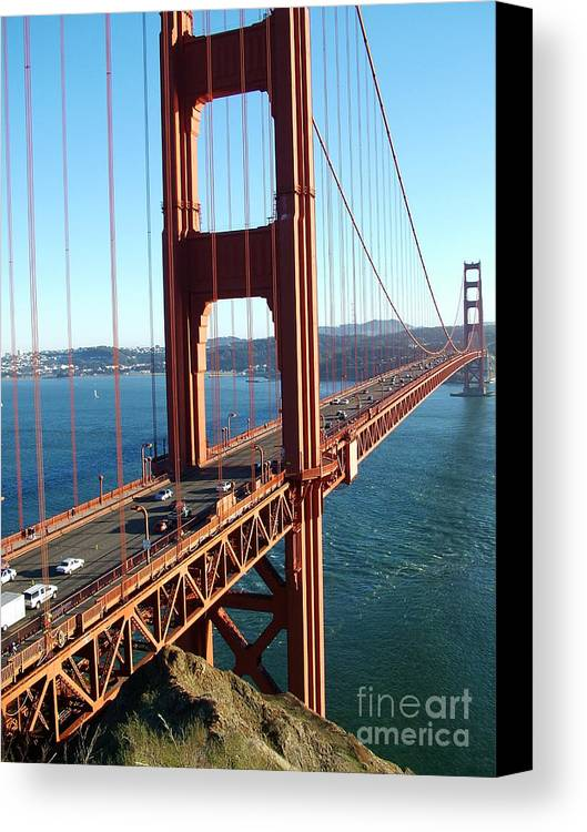 Golden Canvas Print featuring the photograph Golden Gate by John Loyd Rushing