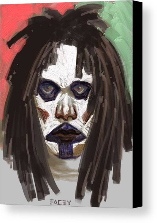 Portrait Canvas Print featuring the painting Gothic Dread by Michael Facey