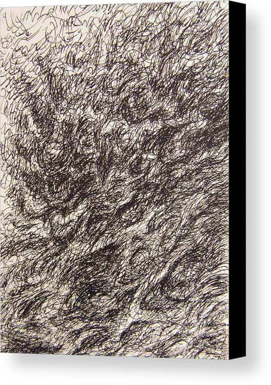 Landscape Canvas Print featuring the drawing Gravity by Uwe Schein