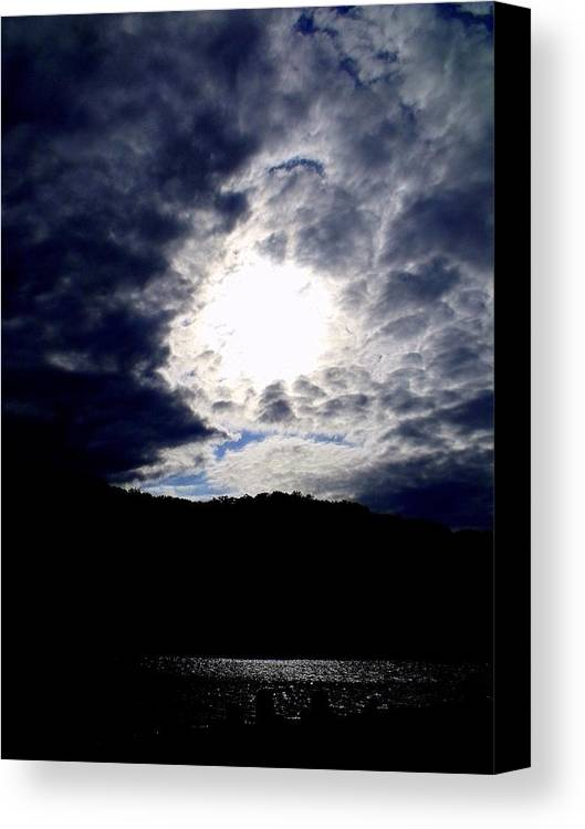 Sky Canvas Print featuring the photograph Guardian Of The Portal by Ed Smith