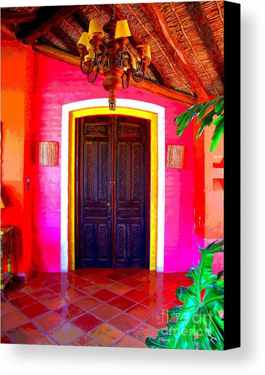 Darian Day Canvas Print featuring the photograph Hacienda 2 By Darian Day by Mexicolors Art Photography