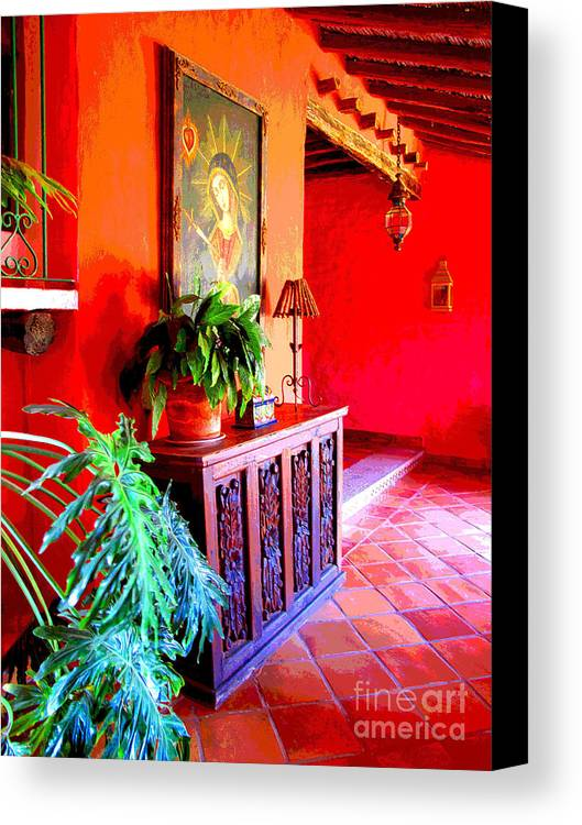 Darian Day Canvas Print featuring the photograph Hacienda By Darian Day by Mexicolors Art Photography