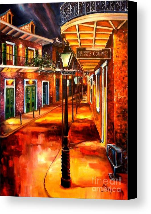New Orleans Canvas Print featuring the painting Harrys Corner New Orleans by Diane Millsap