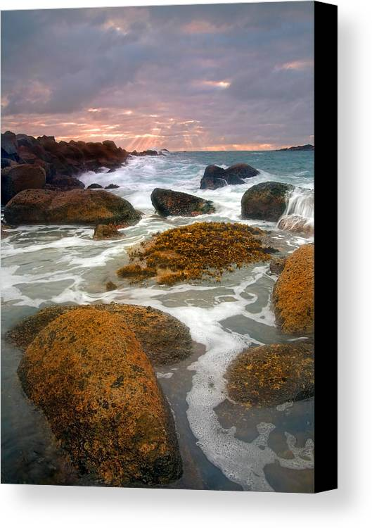 Sunrise Canvas Print featuring the photograph Heavenly Dawning by Mike Dawson